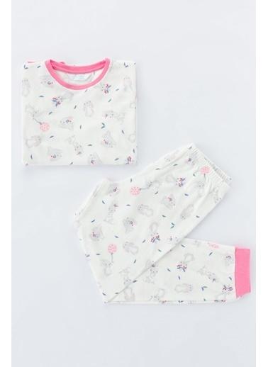 Penti Kız Çocuk Bunny Termal 2Li Pijama Takımı Renkli